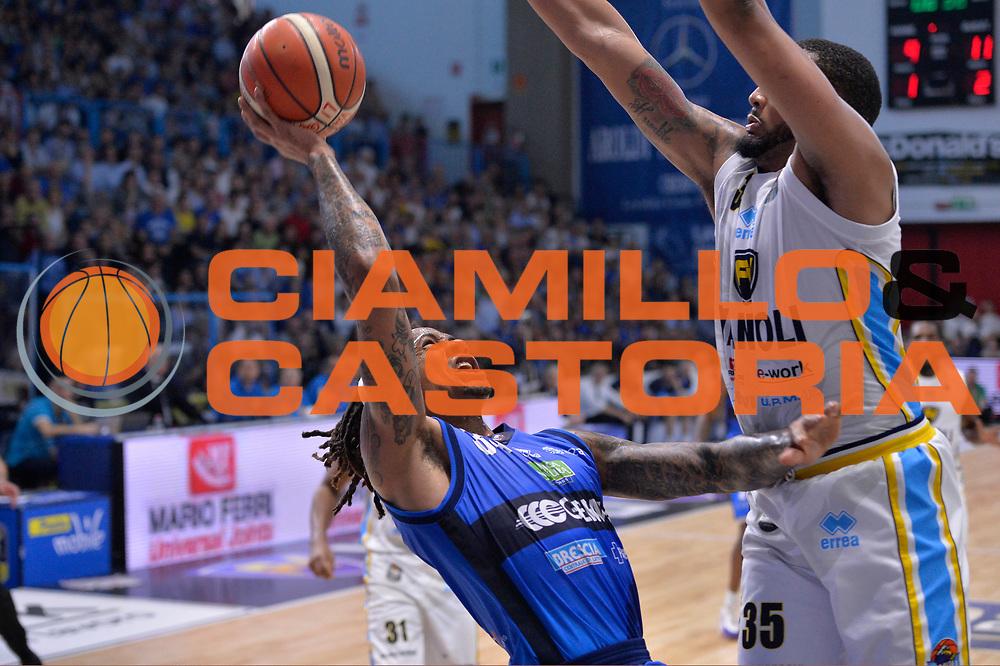 David Moss<br /> Vanoli Cremona - Germani Basket Brescia Leonessa<br /> Lega Basket Serie A 2016/2017<br /> Cremona, 09/04/2017<br /> Foto M.Ceretti / Ciamillo - Castoria
