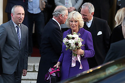 14.03.2016, Zagreb, CRO, der Britische Kronprinz Charles und seine Frau Camilla besuchen Kroatien, im Bild British Crown Prince Charles and his wife Camilla, the Duchess of Cornwall, are visiting Croatia as part of a regional tour that will include Serbia, Montenegro and Kosovo. They visited the Croatian National Theatre and participated in a programme to commemorate the 400th anniversary of the death of William Shakespeare. Royal couple leaving the theater. EXPA Pictures © 2016, PhotoCredit: EXPA/ Pixsell/ Goran Stanzl<br /> <br /> *****ATTENTION - for AUT, SLO, SUI, SWE, ITA, FRA only*****