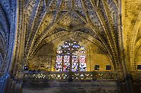 inside the cathedral in sevilla, spain
