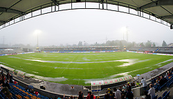 ALTACH, AUSTRIA - Saturday, July 17, 2010: Liverpool abandon their warm-up due to torrential rain before the Reds' first preseason match of the 2010/2011 season at the Cashpoint Arena. (Pic by David Rawcliffe/Propaganda)
