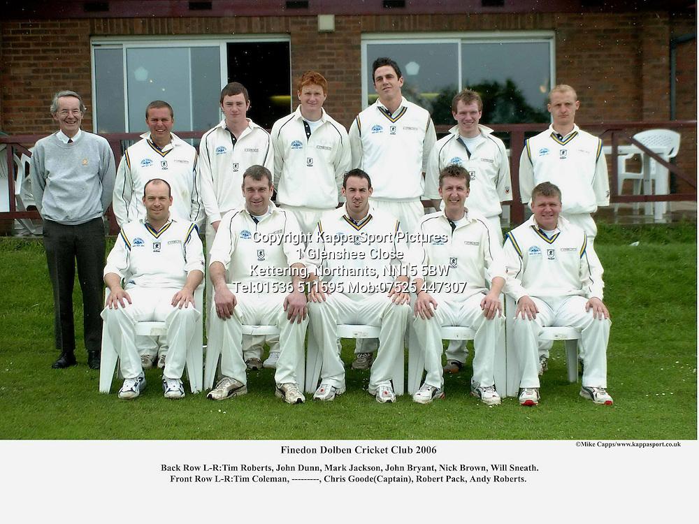 Finedon Cricket Club  2006 Cricket Cricket
