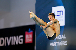 Tom Daley of Great Britain in action in the Mens 10m Platform Final - Photo mandatory by-line: Rogan Thomson/JMP - 07966 386802 - 23/08/2014 - SPORT - DIVING - Berlin, Germany - SSE im Europa-Sportpark - 32nd LEN European Swimming Championships 2014 - Day 11.