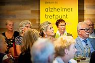 GIESSENBURG - Queen Maxima visits the Alzheimer Trefpunt De Til. Alzheimer Nederland is celebrating its 35th anniversary this year.  robin utrecht