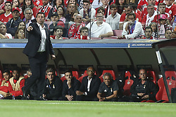 September 12, 2017 - Lisbon, Portugal - Benfica's coach Rui Vitoria gestures from the sideline during the Champions League  football match between SL Benfica and CSKA Moskva at Luz  Stadium in Lisbon on September 12, 2017. NURPHOTO/CARLOS COSTA. (Credit Image: © Carlos Costa/NurPhoto via ZUMA Press)