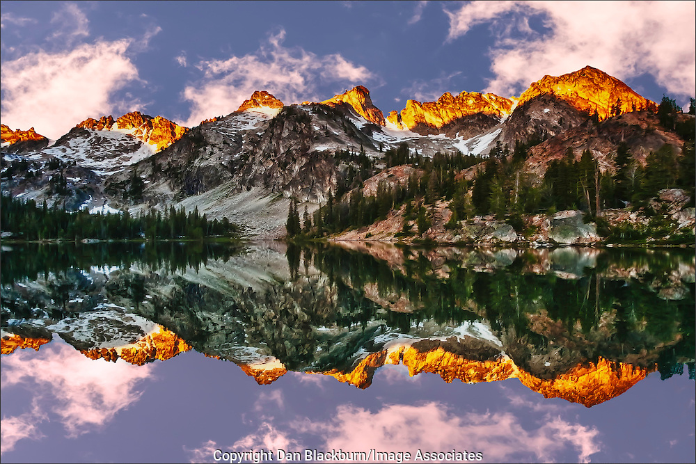 Sunrise at Alice Lake Sawtooth Mountains Idaho