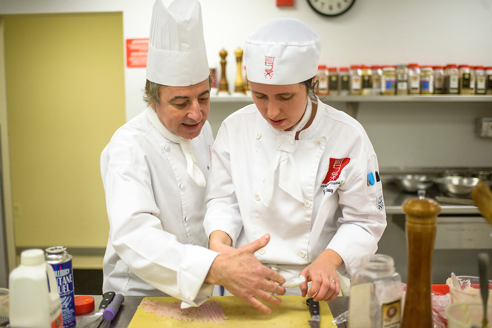 Gaithersburg, Maryland - March 14, 2014: Chef Patrice Olivon, the culinary  program