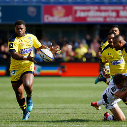 Apisai Naqalevu of Clermont and Isaia Toeava of Clermont and Jake Mc Intyre of Agen during Top 14 match between Clermont and Agen on August 25, 2018 in Perpignan, France. (Photo by Romain Biard/Icon Sport)