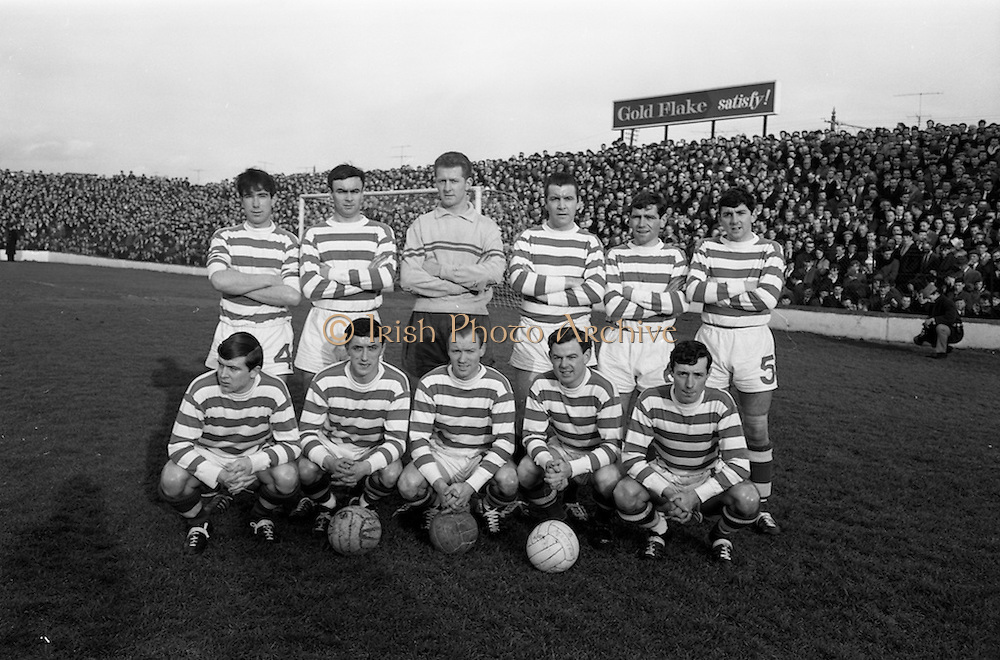06/02/1966<br /> 02/06/1966<br /> 06 February 1966<br /> League of Ireland: Shamrock Rovers v Waterford at Milltown, Dublin. The Shamrock Rovers team.