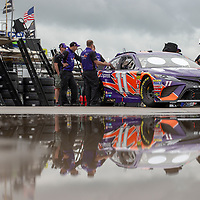 May 18, 2018 - Concord, North Carolina, USA: Denny Hamlin (11) gets ready to qualify for the Monster Energy All-Star Race at Charlotte Motor Speedway in Concord, North Carolina.