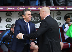 Leicester City manager Claude Puel (L) and Burnley manager Sean Dyche before the match - Mandatory by-line: Jack Phillips/JMP - 14/04/2018 - FOOTBALL - Turf Moor - Burnley, England - Burnley v Leicester City - English Premier League