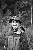 Portraits of wildlife photographer Takeshi Hanatani