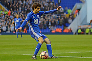 Birmingham City striker Diego Fabbrini (10) crosses the ball 0-1 during the The FA Cup 3rd round match between Birmingham City and Newcastle United at St Andrews, Birmingham, England on 7 January 2017. Photo by Alan Franklin.
