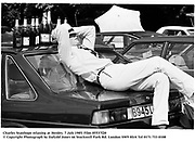 Charles Stanhope relaxing at Henley. 7 july 1985. Film 85537f20<br /> © Copyright Photograph by Dafydd Jones<br /> 66 Stockwell Park Rd. London SW9 0DA<br /> Tel 0171 733 0108