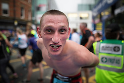 © Licensed to London News Pictures . 22/05/2016 . Manchester , UK . Finishing line . The Great Manchester Run in Manchester City Centre . Photo credit : Joel Goodman/LNP