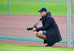 ROTTACH-EGERN, GERMANY - Friday, July 28, 2017: Photographer Andrew Powell during a training session at FC Rottach-Egern on day three of the preseason training camp in Germany. (Pic by David Rawcliffe/Propaganda)
