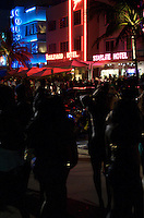 Crowd in Ocean Drive in the 2008 Urban Weekend in Miami Beach. The Miami Beach Urban weekend in the largest Urban Festival in the World, that caters toward the Hip Hop Generation. Over 300.000 participants make the annual trek to South Beach for 4 days full of fun, food, festivities, entertainment, music, and more.