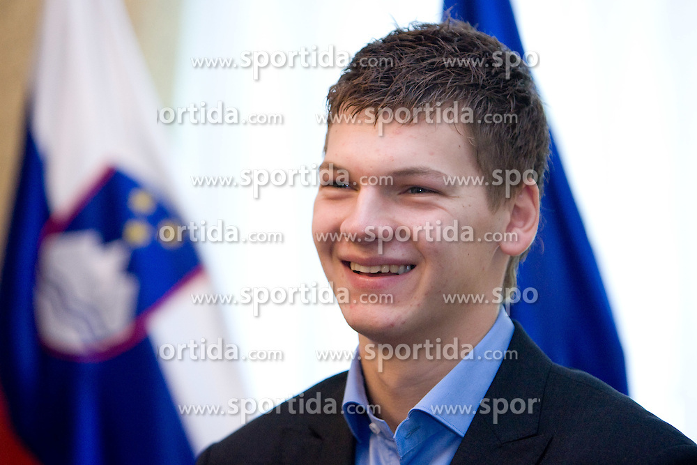 Jaka Klobucar  of Slovenian basketball national team after Eurobasket 2009 at reception at president of Slovenia dr. Danilo Türk,  on September 28, 2009, in Presernova 8, Ljubljana, Slovenia.  (Photo by Vid Ponikvar / Sportida)