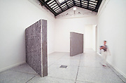 "VENICE, ITALY..June 1993..45th Biennale of Venice.Spanish Pavillion..""Untitled"", 1993 by Christina Iglesias..(Photo by Heimo Aga)"