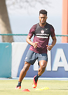 Daniel Sturridge of England during the England open training session at Est&aacute;dio Claudio Coutinho, Urca, Rio de Janeiro<br /> Picture by Andrew Tobin/Focus Images Ltd +44 7710 761829<br /> 16/06/2014