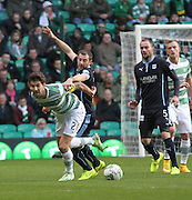 Dundee captain Kevin Thomson gets to grips with Celtic captain Charlie Mulgrew- Celtic v Dundee, SPFL Premiership at Celtic Park<br /> <br />  - © David Young - www.davidyoungphoto.co.uk - email: davidyoungphoto@gmail.com