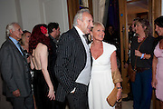 Harold Tillman; Stephanie Tillman, Piccadilly theatre's Ghost The Musical Opening night party. Corinthia Hotel. Whitehall Place. London. 19 July 2011. <br /> <br />  , -DO NOT ARCHIVE-© Copyright Photograph by Dafydd Jones. 248 Clapham Rd. London SW9 0PZ. Tel 0207 820 0771. www.dafjones.com.