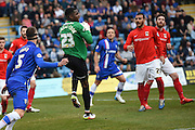 Coventry City goalkeeper Reice Charles-Cook during the Sky Bet League 1 match between Gillingham and Coventry City at the MEMS Priestfield Stadium, Gillingham, England on 2 April 2016. Photo by Martin Cole.