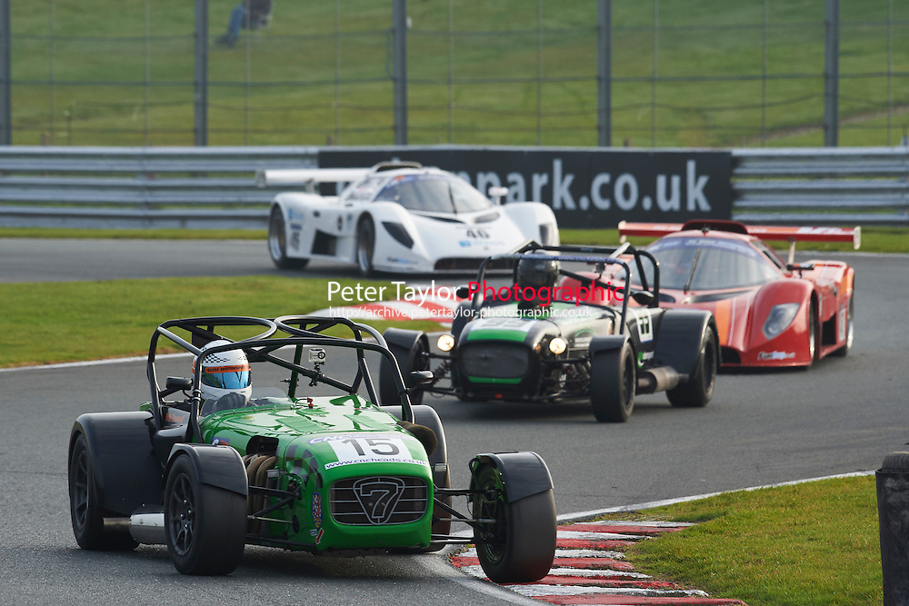 #15 Nick CRESSWELL Caterham 7 R400 during CNC Heads Sports/Saloon Championship - Race 2  as part of the BARC Championships Race Day at Oulton Park, Little Budworth, Cheshire, United Kingdom. October 03 2015. World Copyright Taylor/PSP. Copy of publication required for printed pictures.  Every used picture is fee-liable. http://archive.petertaylor-photographic.co.uk