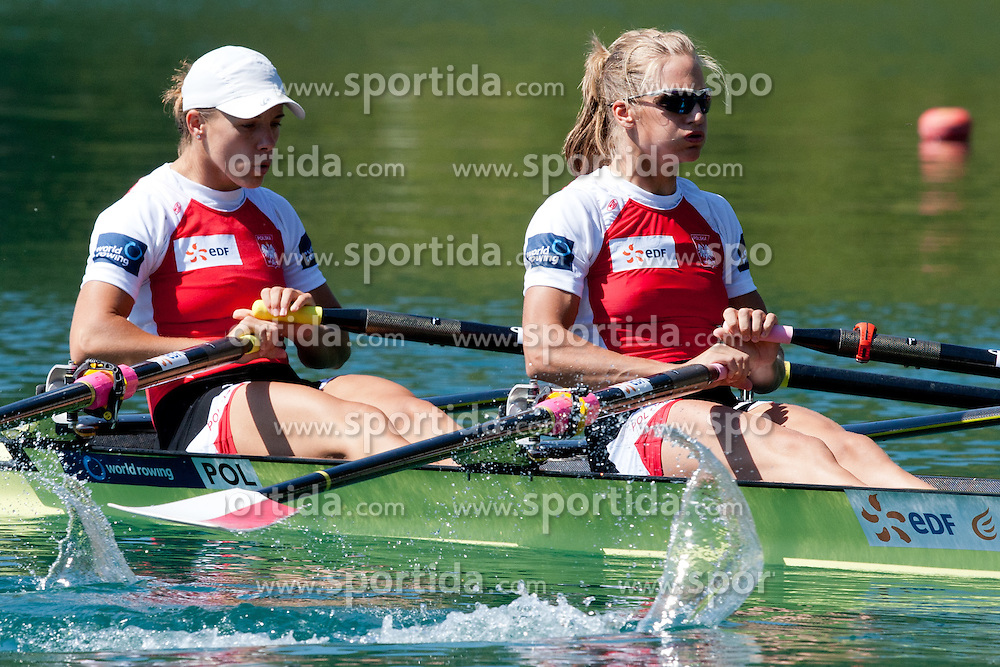 FULARCZYK Magdalena and MICHALSKA Julia of Poland during Women's Double Sculls at Rowing World Championships Bled 2011 on September 3, 2011, in Bled, Slovenia. (Photo by Matic Klansek Velej / Sportida)