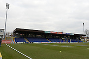 The John Green Stand at the Cherry Red Records stadium ahead of the Sky Bet League 2 match between AFC Wimbledon and Oxford United at the Cherry Red Records Stadium, Kingston, England on 27 February 2016. Photo by David Vokes.