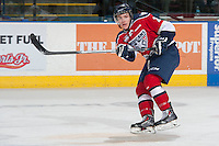 KELOWNA, CANADA - MARCH 23:  Brian Williams #26 of the Tri-City Americans makes a pass against the Kelowna Rockets on March 23, 2014 at Prospera Place in Kelowna, British Columbia, Canada.   (Photo by Marissa Baecker/Shoot the Breeze)  *** Local Caption *** Brian Williams;