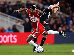 Adama Traore of Middlesbrough is fouled by Eunan O'Kane of Leeds United - Mandatory by-line: Robbie Stephenson/JMP - 02/03/2018 - FOOTBALL - Riverside Stadium - Middlesbrough, England - Middlesbrough v Leeds United - Sky Bet Championship