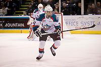 KELOWNA, CANADA, DECEMBER 27: Justin Kirkland #21 of the Kelowna Rockets skates on the ice against the Spokane Chiefs at the Kelowna Rockets on December 7, 2011 at Prospera Place in Kelowna, British Columbia, Canada (Photo by Marissa Baecker/Getty Images) *** Local Caption ***