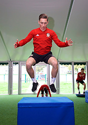 CARDIFF, WALES - Monday, October 8, 2018: Wales' Harry Wilson during a training session at the Vale Resort ahead of the International Friendly match between Wales and Spain. (Pic by David Rawcliffe/Propaganda)