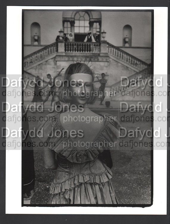 Miss Francesca Hobart at the Palladian Revels. Chiswick House, London. 25 June 1988.Exhibition in a Box