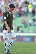 Udine, 08/05/2011.Campionato di calcio Serie A 2010/2011. 36^ giornata..Udinese vs Lazio. Stadio Friuli..Nella Foto: Delusione e lacrime per Mauro Matias Zarate..Foto di Simone Ferraro