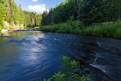 Cold Stream in Maine's Northern Forest. West Forks.