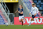 Erin Cuthbert (#22) of Scotland bursts into the penalty area to score Scotland's first goal (1-1) during the FIFA Women's World Cup UEFA Qualifier match between Scotland Women and Belarus Women at Falkirk Stadium, Falkirk, Scotland on 7 June 2018. Picture by Craig Doyle.