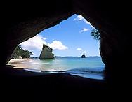 Cathedral Cove, near Hahei, Coromandel Peninsula, north island, New Zealand. 1999
