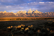 Teton Range at sunrise, Grand Teton National Park, near Moose, Wyoming..Subject photograph(s) are copyright Edward McCain. All rights are reserved except those specifically granted by Edward McCain in writing prior to publication...McCain Photography.211 S 4th Avenue.Tucson, AZ 85701-2103.(520) 623-1998.mobile: (520) 990-0999.fax: (520) 623-1190.http://www.mccainphoto.com.edward@mccainphoto.com