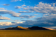 Looking back at the northern edge of the Pyramid Lake Indian reservation from the Smoke Creek Desert in rural Nevada, USA.