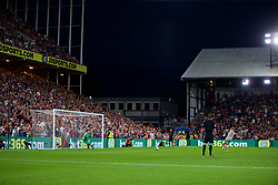 LONDON, ENGLAND - Monday, August 20, 2018: Liverpool's James Milner scores the first goal from a penalty kick during the FA Premier League match between Crystal Palace and Liverpool FC at Selhurst Park. (Pic by David Rawcliffe/Propaganda)
