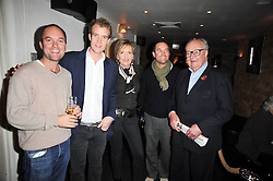 Left to right, HUGO CHITTENDEN, the HON.FRANCOIS O'NEILL and LADY RATHCAVAN, OLIVER CHITTENDEN and LORD RATHCAVAN at a screening of the short film 'The Volunteer' held at the Courthouse Hilton Hotel, 19-21 Great Marlborough Street, London W1 on 26th October 2009.