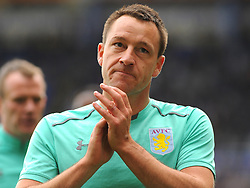 John Terry of Aston Villa applauds fans before kick-off- Mandatory by-line: Nizaam Jones/JMP - 29/10/2017 - FOOTBALL - St Andrew's Stadium - Birmingham, England - Birmingham City v Aston Villa - Sky Bet Championship