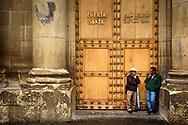 The Rev. Dr. Matthew C. Harrison, president of The Lutheran Church–Missouri Synod, meets Alvaro Arzu, mayor of the city, on Thursday, Oct. 5, 2017, in Guatemala City, Guatemala. LCMS Communications/Erik M. Lunsford