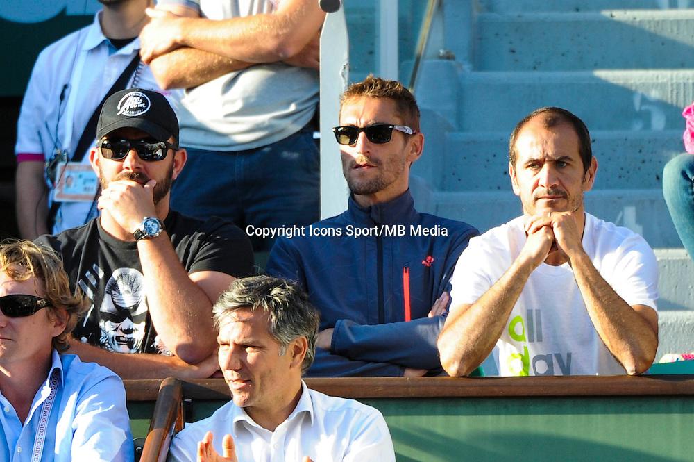 Thierry Ascione / Nicolas Escude entraineur de Jo Wilfried TSONGA  - 02.06.2015 - Jour 10 - Roland Garros 2015<br /> Photo : Nolwenn Le Gouic / Icon Sport