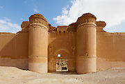 "Main gate, Qasr al-Hayr al-Sharqi (Eastern al-Hayr Palace or the ""Eastern Castle"") is a castle in the middle of the Syrian Desert."