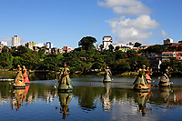 orishas fountain in the beautiful city of salvador in bahia state brazil