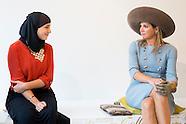 Koningin Máxima woont  in Amsterdam de opening bij van het vernieuwde Muse