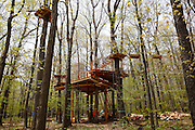 Bristol Mountain's new Aerial Adventure Park has six courses of varying difficulties, plus a children's course, consisting of nearly 100 platforms.