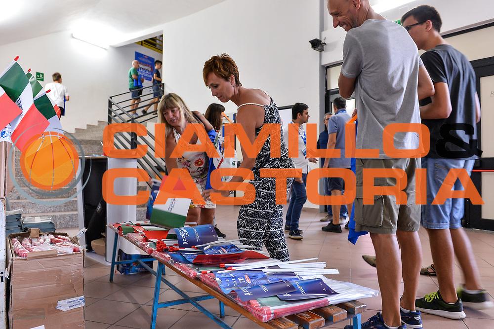 Consegna Bandierine<br /> Nazionale Italiana Maschile Senior - Sardegna a Canestro 2017<br /> Italia - Turchia Italy - Turkey<br /> FIP 2017<br /> Cagliari, 13/08/2017<br /> Foto L.Canu / Ciamillo-Castoria